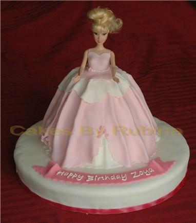 Sweetheart Barbie Doll Dress Cake Design From Decopac ...